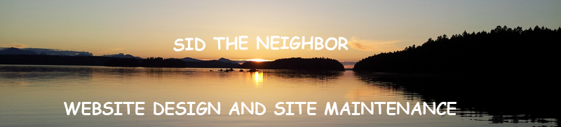 Sid the Neighbor, Website Design and Site Maintenance
